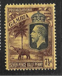 GAMBIA  1922-29  7 1/2d  KGV   MLH   SG 132