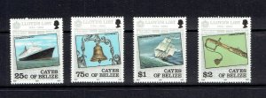 CAYES OF BELIZE - 1984 LLOYD'S LIST - SCOTT 10 TO 13 - MNH