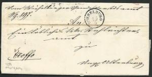 AUSTRIA HUNGARY 1858 folded entire ex WIESELBURG...........................66442