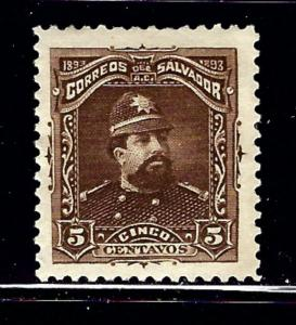 Salvador 79 MHR 1893 issue