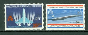 NEW HEBRIDES FRENCH... CONCORDE #149-50...SET...MINT VERY LIGHT H...$9.50