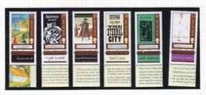 Isle of Man Sc 994-9 2003 Manx Bookshelf stamp set mint NH
