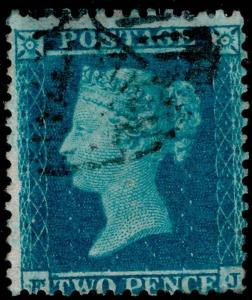 SG23, 2d blue PLATE 4, SC14, FINE USED. Cat £225.
