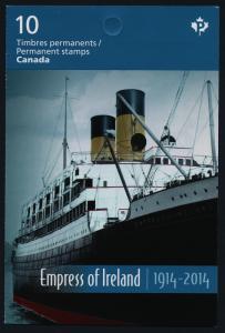Canada 2747a Booklet MNH Empress of Ireland, Ship