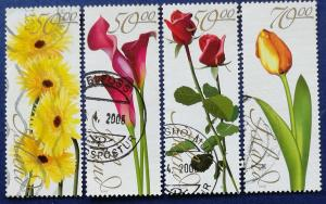 Iceland Flowers Stamp Set Scott # 1039-42 Used (I905)