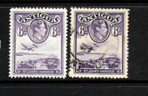 ANTIGUA 1938  6d   KGVI  PICTORIAL  M&U    SG 104