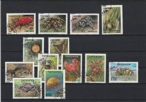 Tanzania Various Spiders Arachnids & Crustaceans Stamps Ref 24930