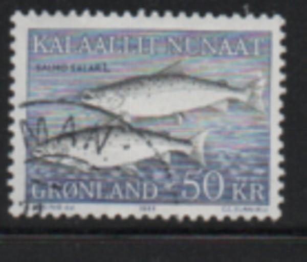 Greenland Sc 141 1983 50 kr fish stamp used