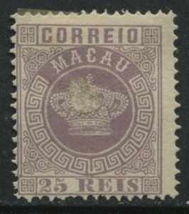 Macao 1885 25 reis violet mint o.g. hinged