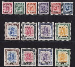 1951 Libya Issue For Il Fezzan, N° 14-23 +20/1-23 / I the Two Proof 14