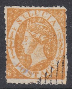 ST LUCIA  An old forgery of a classic stamp.................................D278