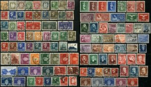 100 NORWAY Postage Stamp Collection EUROPE Used