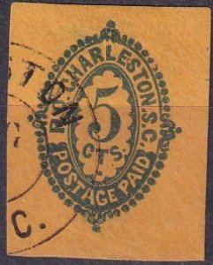 Confederate States #16UX3 Used  CV $2250.00  (Z3093)
