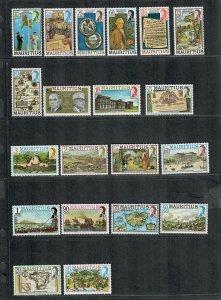 Mauritius Sc#444-463 M/NH/VF, Cv. $26.55