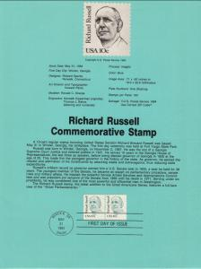 US SP512 Richard Russell 1853 Souvenir Page FDC