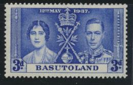Basutoland SG 17 Mint Very Light Hinge trace Silver Jubilee