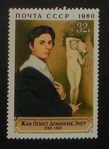 Russia 4858. 1980 Jean Ingres, painter, NH