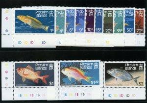 Pitcairn Islands 1984 QEII Fishes set superb MNH. SG 246-258. Sc 231-243.