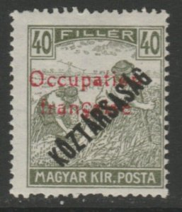 Hungary French Occupation Arad Issue 1919 40f MH* A18P16F629