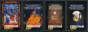 Faroe Is. 332-5 MNH - Scenes from Brynhild's Ballad