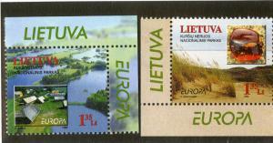 LITHUANIA 628-629 MNH SCV $2.50 BIN $1.25 GEOGRAPHY