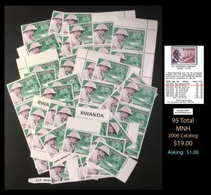 Rwanda Dealer's Lot ~ Sct 715  95 tot Cat: $.20 ~ CLR90588
