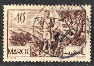French Morocco Scott 157  F to VF used with a splendid SON cds.