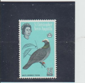 St. Kitts-Nevis  Scott#  155  MNH  (1963 White-Crowned Pigeon)