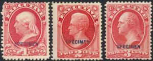 O10SE-O14SE, SPECIMEN SET - 1875 RE-ISSUES