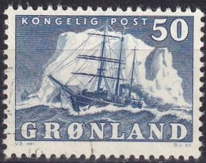 Greenland #35  F-VF Used  CV $11.00  (Z8091)