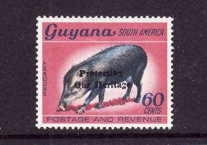 D3-Guyana-Sc#752a-unused NH-watermarked-Peccary-Animals-1984