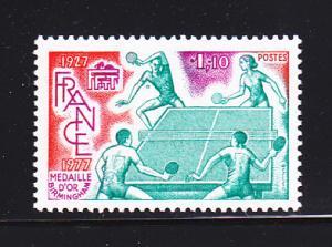 France 1558 Set MNH Sports,Table Tennis (B)
