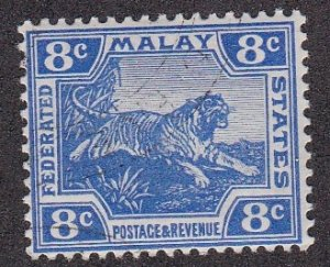Malaya, Tiger, NH,  1/3 Cat.