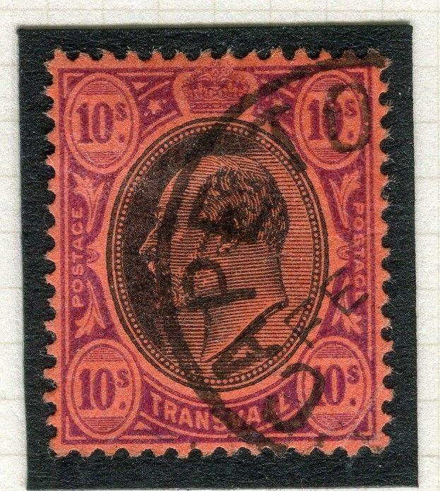 TRANSVAAL Interprovincial Period Ed VII CAPE TOWN Postmark on 10s.
