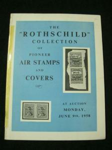 HR HARMER AUCTION CATALOGUE 1958 AIR STAMPS AND COVERS 'ROTHSCHILD'