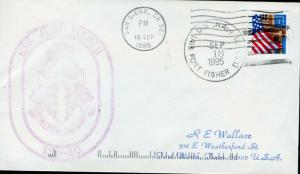 UNITED STATED USS FORT FISHER (LSD-30) COVER 9/18/1995 TO FT WORTH, TX AS SHOWN