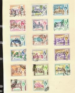 1962 Bermuda SC #175-9-0 QEII Θ used stamp set