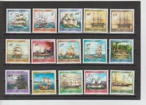 Papua New Guinea  Scott#  663-676A  MH  (1987-8 Ships)