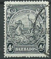 Barbados SG 253 Used perf 14 couple short perfs