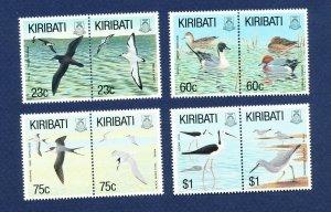 KIRIBATI - Scott 599-606a - FVF MNH - Water Birds - 1993