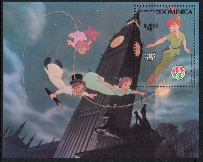 Dominica #679-88* NH CV $11.25 Disney/Christmas set complete with Souvenir sheet