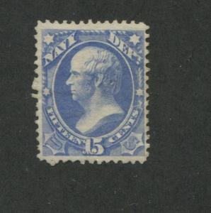 1873 United States Official Navy Dept. Stamp #O42 Mint Hinged Disturbed OG F/VF