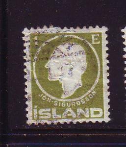Iceland Sc86 1911 1e Jon Sifurdsson stamp used