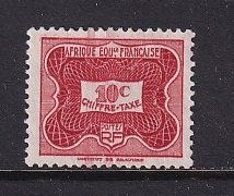 French Equatorial Africa     #J12   used   1947  postage due  10c