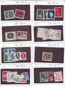 Z637 JL stamps germany DDR mnh with sets on sales cards, been checked & sound