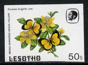 Lesotho 1984 Butterflies Broad-Bordered Grass Yellow 50s ...