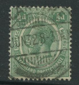 STAMP STATION PERTH Nyasaland #25 KGV 1921 Used Wmk 4 CV$0.50.
