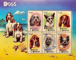 Antigua & Barbuda MNH S/S Domestic Dogs Mammals 2000 Read Description