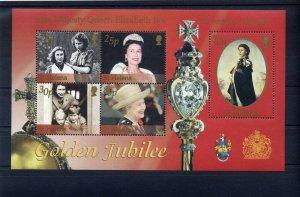 2002 Scouts St Helena QEII Golden Jubilee m/s
