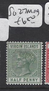VIRGIN ISLANDS (P2105B)  QV  1/2D  SG 27  MOG